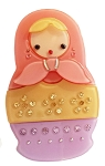 Nesting Doll Clip - Indian Pink