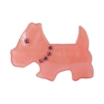 Scottie Dog Clip - Peach