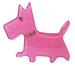 Scottie Dog Clip - Pink