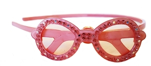 Sunglasses Crystal Headband - Indian Pink
